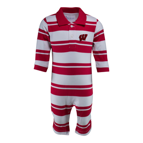 Two Feet Ahead - Wisconsin - Wisconsin Rugby Long Leg Romper