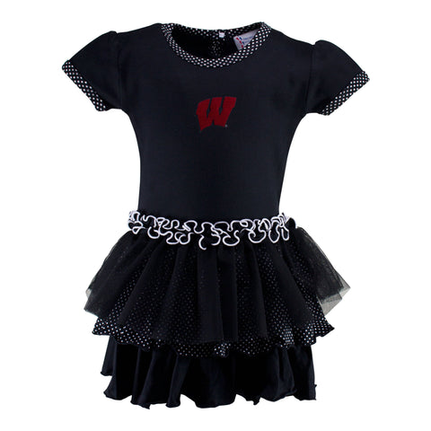Two Feet Ahead - Wisconsin - Wisconsin Pin Dot Tutu Dress
