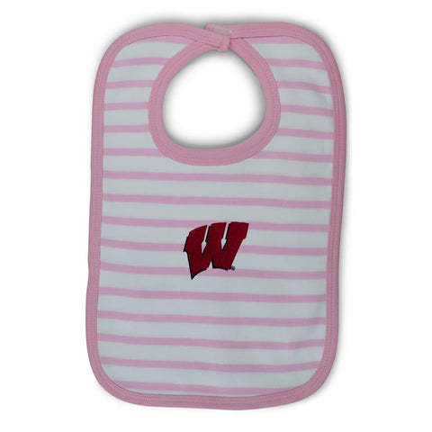 Two Feet Ahead - Wisconsin - Wisconsin Infant Stripe Knit Bib