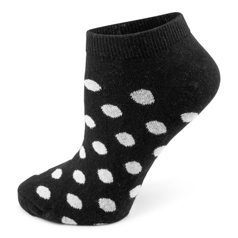 Two Feet Ahead - Socks - Ladies Polka Dot Footie