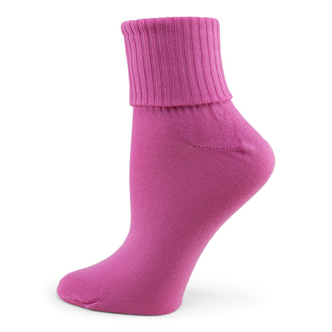 Two Feet Ahead - Socks - Women's Triple Roll Bobby Sock (4855)