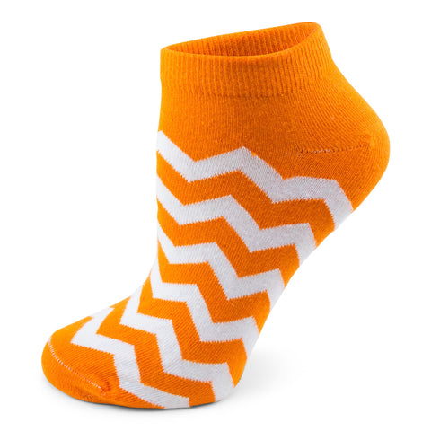 Two Feet Ahead - Socks - Women's Chevron Footie (11278)