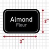 Adhesive Bulk Pantry Labels Almond Flour