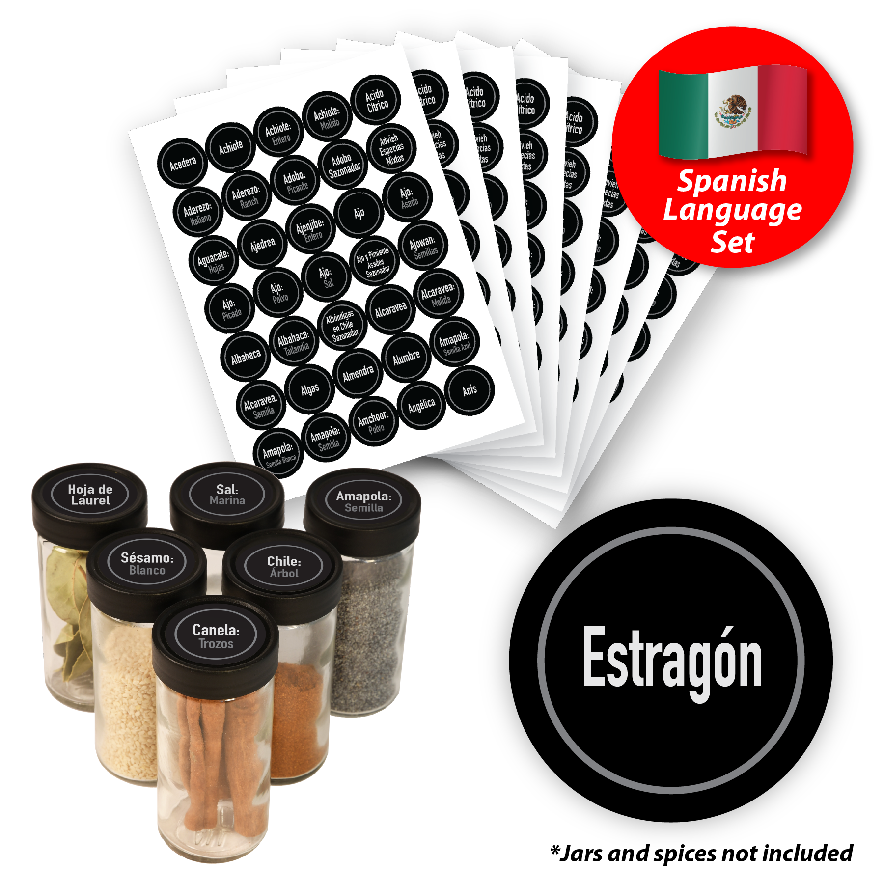 Spice Jar Labels- Spanish Language