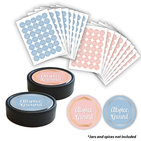 Spice Jar Labels - Metallic