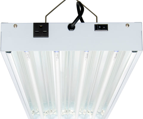 T5 4Ft 4 Tube 240V Fixture w/Bulbs-AgroBrite-Hydro Green Grow