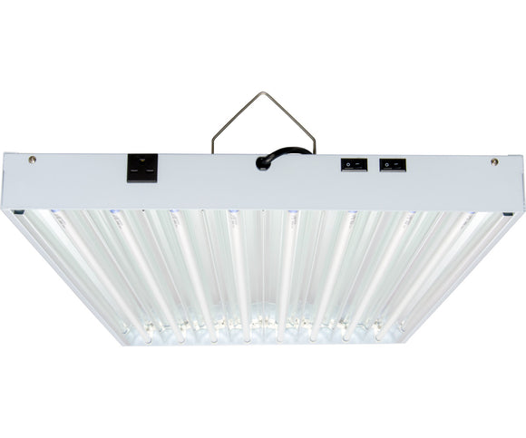 T5 4Ft 8 Tube 240V Fixture w/Bulbs-hydrogreengrow.com