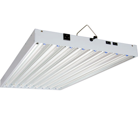 T5 4Ft 8 Tube 240V Fixture w/Bulbs-AgroBrite-Hydro Green Grow