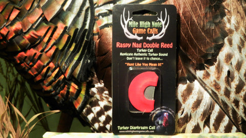 Raspy Nag Turkey Double Reed Diaphragm Call