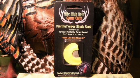 Yearnful Yelper Turkey Single Reed Diaphragm  Call