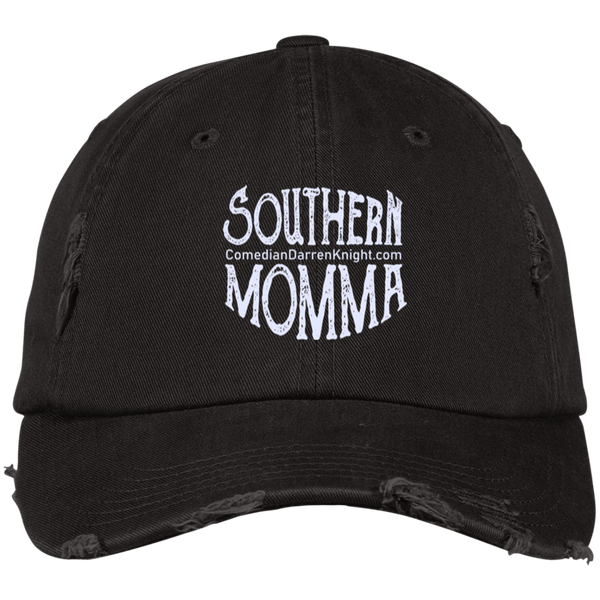 Southern Momma White Logo Distressed Cap