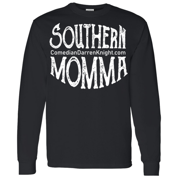 Southern Momma White Logo LS T-Shirt S-3X