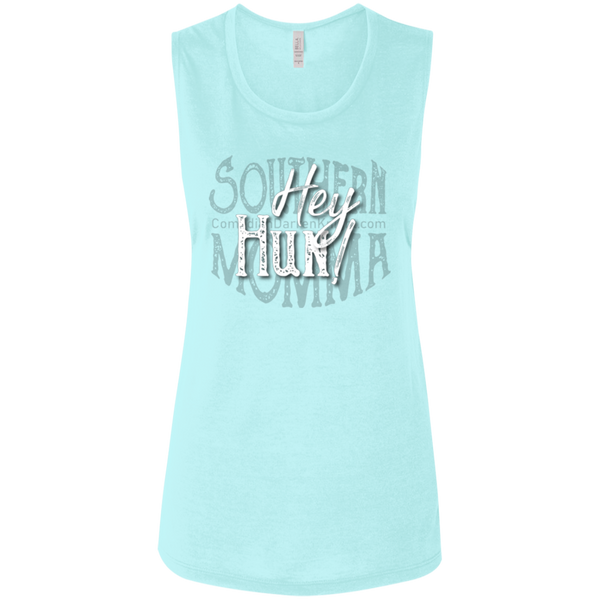 Hey Hun SM Ladies Flowy Muscle Tank S-2X