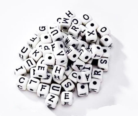 Alphabet Beads Manipulative (munchy Ball food) 12mm