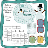 Snow man and Hot Cocoa fine motor activities