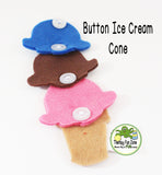 Button Ice Cream Cone