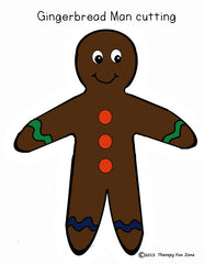 Gingerbread man Color and Cutting