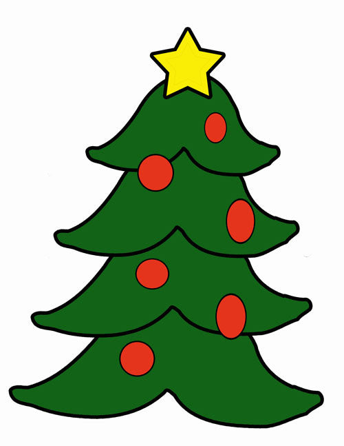 christmas tree cutting template