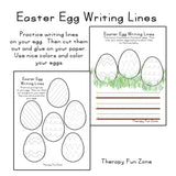 Easter Egg Writing Lines