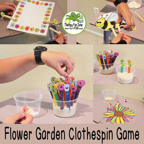 Flower Garden Clothespin Game