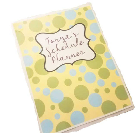 therapy schedule planner wire bound