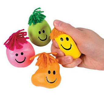 Squishy Stretchy Happy Face Fidget (4 pack)