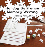 December holiday sentence memory