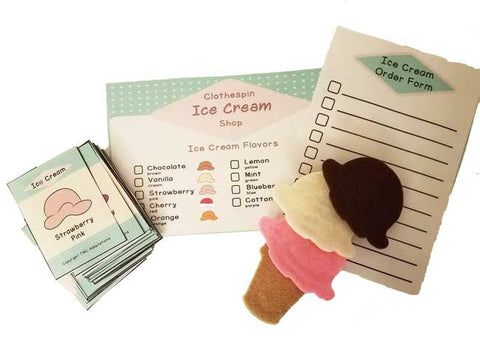 Ice Cream Shop Fine Motor Game (2 cones)