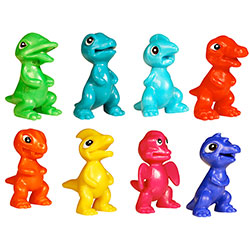 tiny dinosaur putty pets (10 pack)