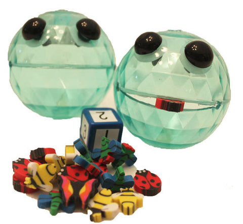 Munchy Ball Game with 2 vinyl balls, bugs, dice