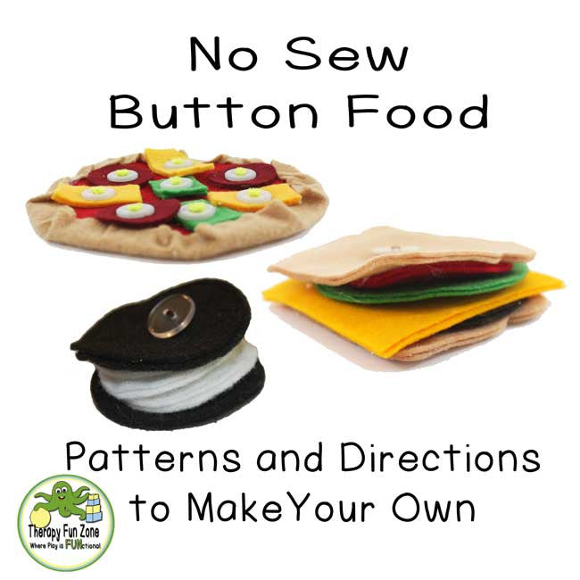 No Sew Button Food Patterns