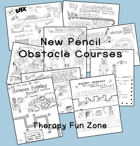 Pencil (etc.) Obstacle Courses - Second Edition