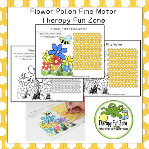 Flower Honeycomb Fine Motor