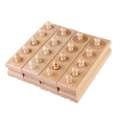 Fine Motor wooden pegs of different sizes Montessori Early Development