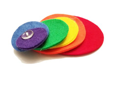 Button Snake with Rainbow Circles