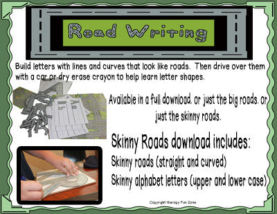 Road Writing Skinny Roads and Letters