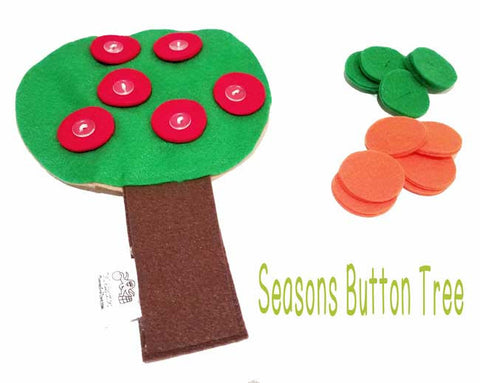Seasons Felt Button Tree