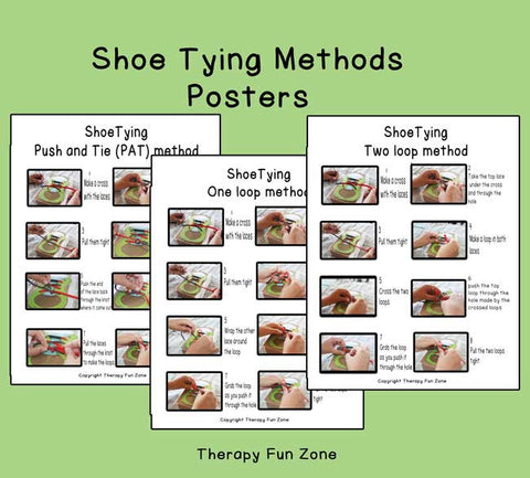 shoe tying methods poster download