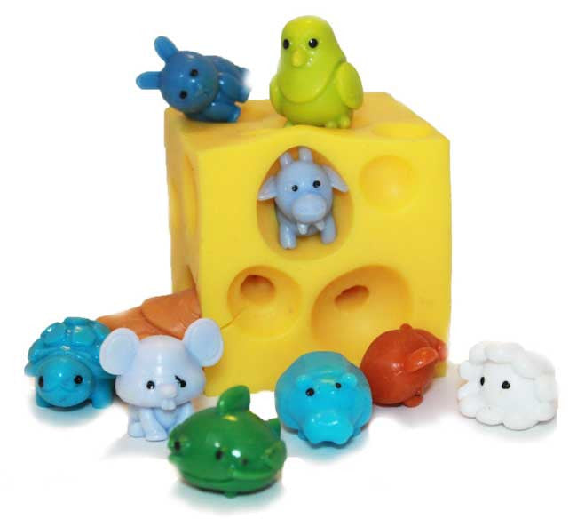 Stretchy Cheese with Squishy Animals
