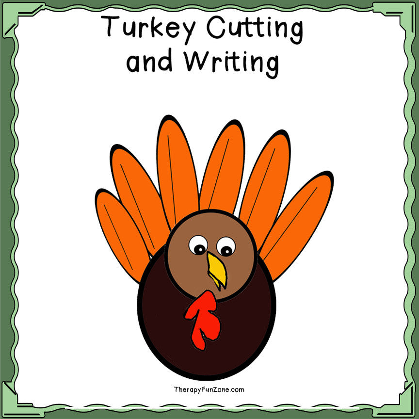 Scissor Cutting Turkey with write on feathers