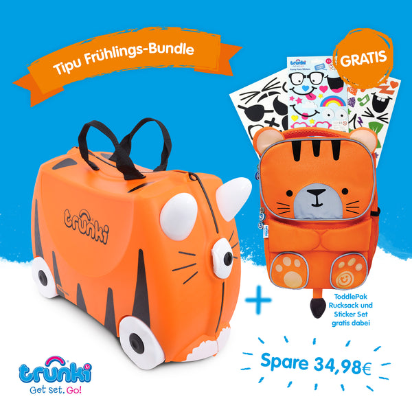 Tipu Trunki & GRATIS ToddlePak Rucksack & Sticker