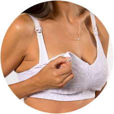 Our second, inner strap keeps the strap and bra up and in place while nursing