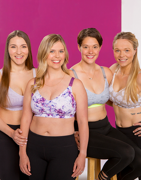 Stylish pumping bra and nursing bra with fashion-forward styles and sports bra design perfect for any mom
