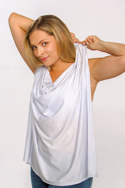The Anywhere Bra by Ollie Gray in The Janie comes with a privacy cloth for moms who breastfeed