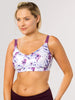 Underwire free nursing bra in The Bitsy, the best pump bra