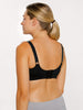 A no wire nursing bra with comfortable clasps in Black
