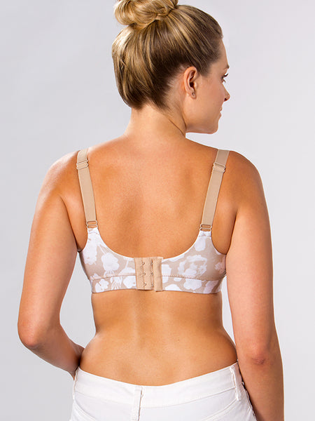 A no wire nursing bra with comfortable clasps in The Janie