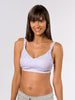 Underwire free nursing bra in The La La, the best pump bra