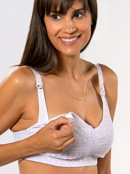 Supporting nursing bra for moms who breastfeed in The La La