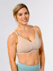 Underwire free nursing bra in Nude, the best pump bra